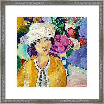 Lady Of Le Piviones Framed Print by Laura Botsford