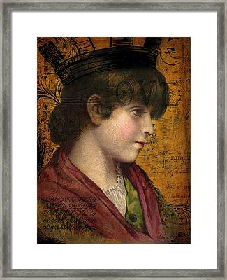 Lady Of Letters Framed Print