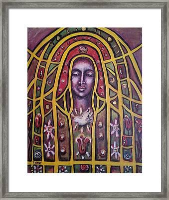 Lady Of Peace Framed Print by Ellen Nagy