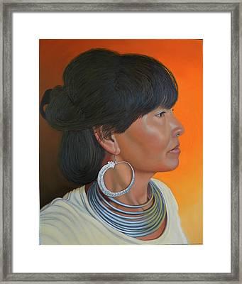 Lady Of Sapa Framed Print