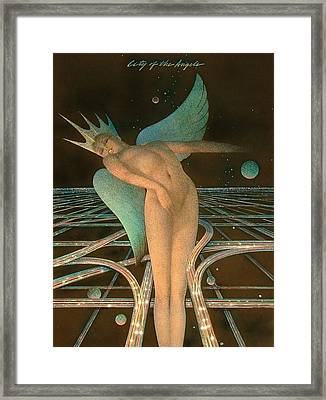 Lady Of The Angels Framed Print by Gary Kaemmer