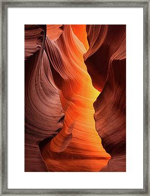 Lady Of The Flame Framed Print by Darren White