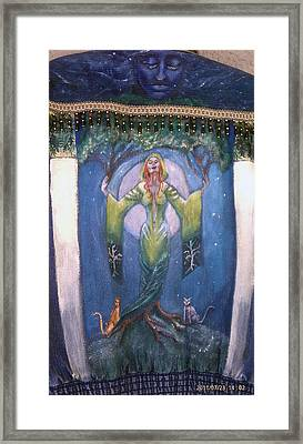 Lady Of The Green Tree Framed Print