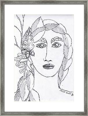 Lady Of The Greenwood Framed Print