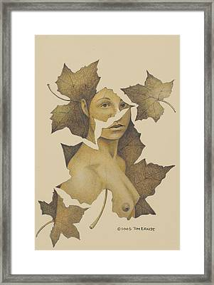 Framed Print featuring the photograph Lady Of The Leaf 3 by Tim Ernst