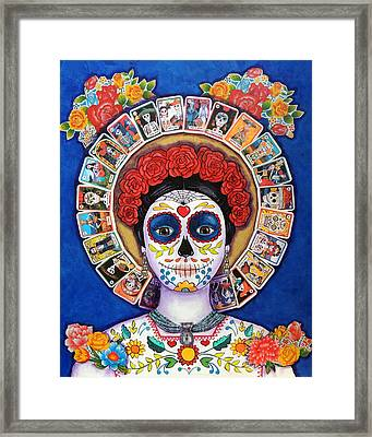 Lady Of The Loteria Framed Print