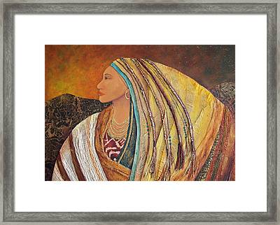 Lady Of The Mountains Framed Print by Candy Mayer