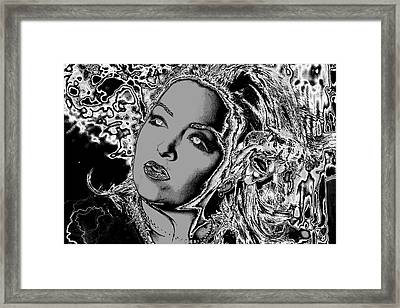 Framed Print featuring the digital art Lady Of The Night by Holly Ethan