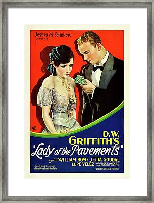 Lady Of The Pavements 1929 Framed Print by Mountain Dreams