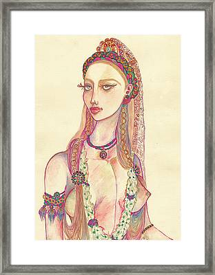 Lady Of The Tribe Framed Print by Ana Dragan
