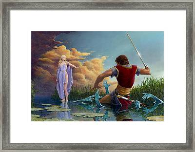 Lady Of The Waters Framed Print by Richard Hescox
