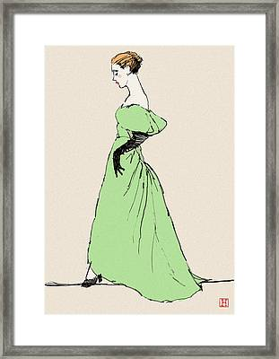 Lady On A Wire Framed Print