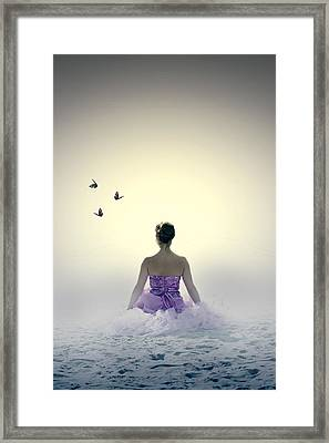 Lady On The Beach Framed Print by Joana Kruse