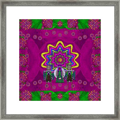 Lady Panda Says I See You. Framed Print