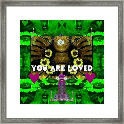 Lady Panda Says You Are Loved Framed Print