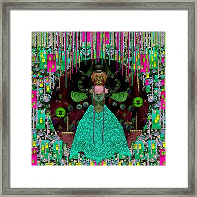Lady Pandas Comfort Zone In Zen Framed Print by Pepita Selles