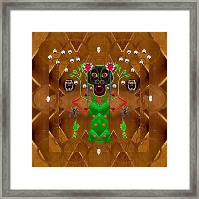 Lady Pandas Friend Dragon Wing Sings Framed Print by Pepita Selles
