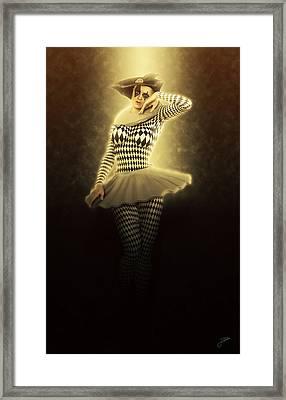 Lady Pierrette Sunlight Framed Print by Joaquin Abella