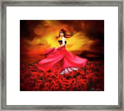 Lady Poppy Framed Print by Svetlana Sewell