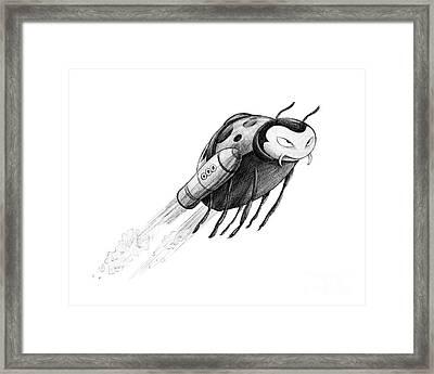 Lady Rocket Bug Framed Print