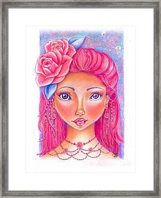 Lady Rose Framed Print by Delein Padilla