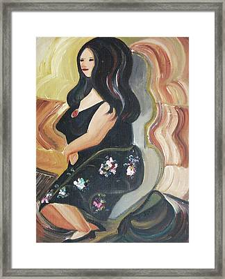 Lady Seated Framed Print by Suzanne  Marie Leclair