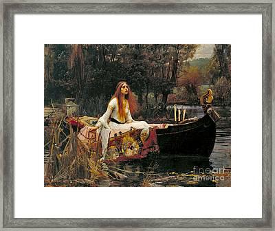 Lady Shalott 1888 Framed Print by Padre Art