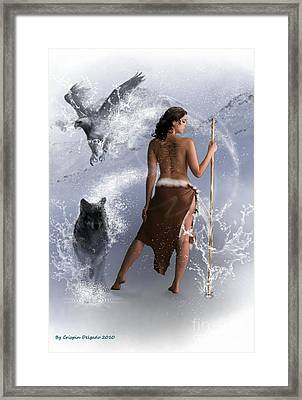 Lady Shaman Framed Print by Crispin  Delgado
