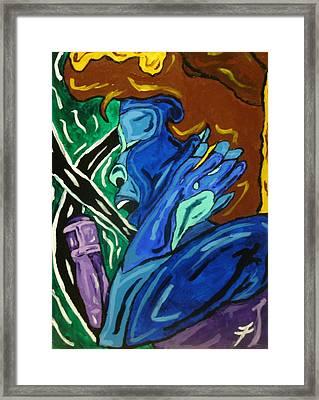 Lady Sing The Blues Framed Print by Jason JaFleu Fleurant