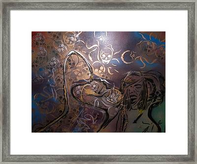 Lady Sings The Blues Framed Print by Dorian Williams