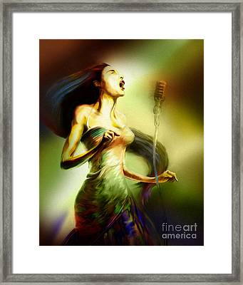 Lady Sings The Blues Framed Print