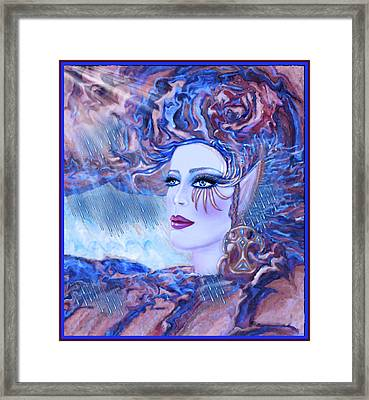 Lady Storm Cloud Framed Print by Lynell Withers