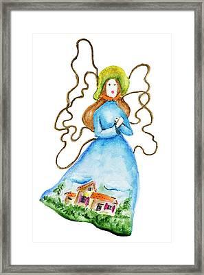 Lady Summer Framed Print
