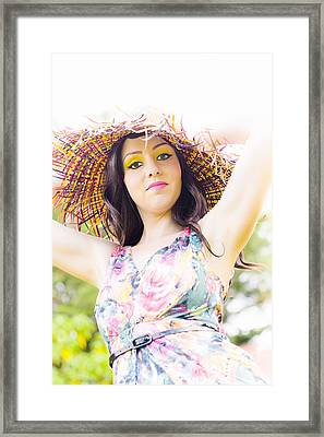 Lady Sun Shine Framed Print by Jorgo Photography - Wall Art Gallery