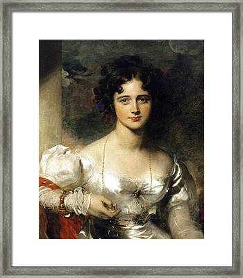 Lady Framed Print by Thomas Lawrence