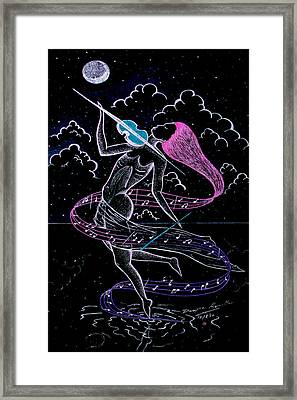 lady Under The Silver Moon Framed Print by Dwayne  Hamilton