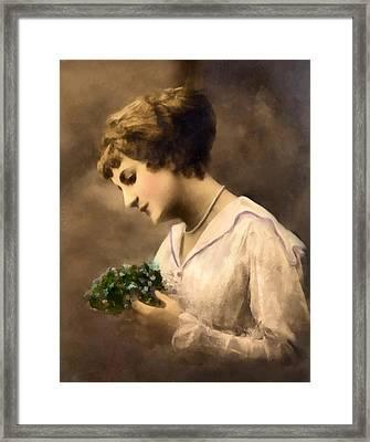 Lady Vintage Framed Print by Georgiana Romanovna