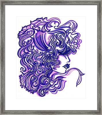 Lady Violet Framed Print