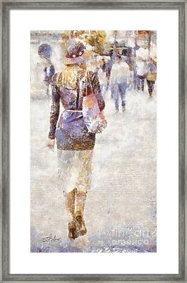 Lady Walking Framed Print by Shirley Stalter