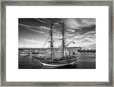 Lady Washington In Black And White Framed Print