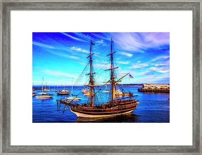 Lady Washington In Monterey Bay Framed Print