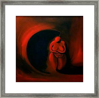 Framed Print featuring the painting Lady Willendorf by James Lanigan Thompson MFA
