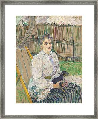 Lady With A Dog Framed Print by Mountain Dreams