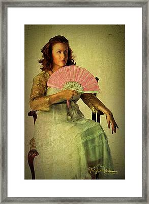Lady With A Fan Framed Print