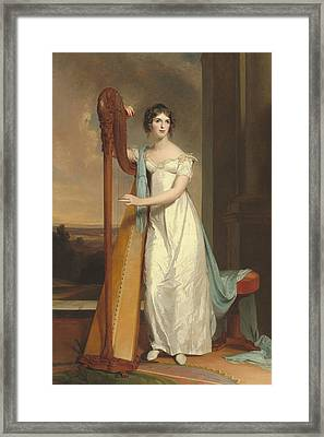 Lady With A Harp Framed Print