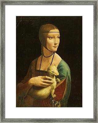 Lady With Ermine Framed Print by Pg Reproductions