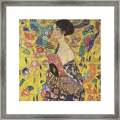 Lady With Fan Framed Print
