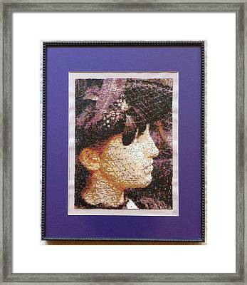 Lady With Feather Hat Framed Print