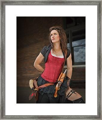 Lady With Flintlock - Steampunk Framed Print