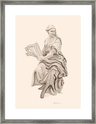 Lady With Harp Framed Print